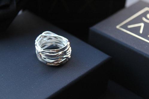 Designer Silver Melt Ring