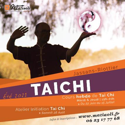 Été 2021 : Cours hebdomadaires et ateliers de Tai Chi...pour tous !