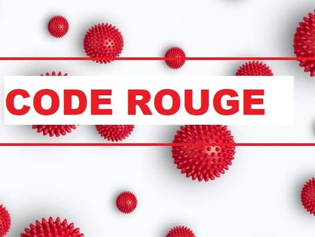 Prolongation du code rouge jusque Pâques.
