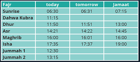 Example of prayer times list.PNG