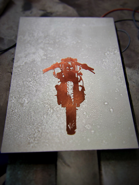 Cafe Racer - Concrete with Copper Versio