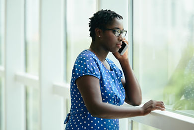 a lady making a phone call