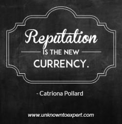 establish reputation in personal branding
