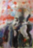 Clement Greenberg, acryl op doek, 80x115cm,arnout van mameren