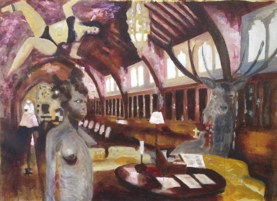 Arnout van Mameren, Into my castle, acryl op doek, 165x115cm