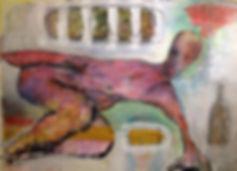 Arnout van Mameren, Zonder titel, Acryl op doek, 165x115cm