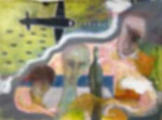 Arnout van Mameren,Ontheemd, acryl op doek, 165x115cm