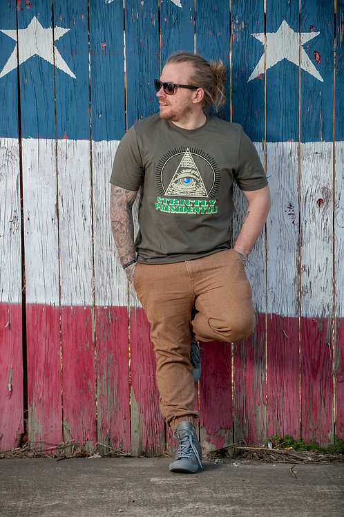 strictlyPresidential Men's Army Green