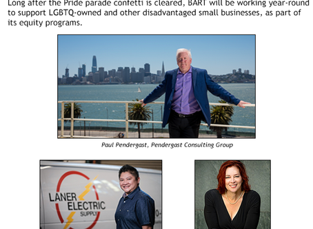BART supports LGBTQ-owned businesses all year long with outreach and inclusion