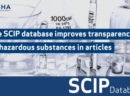 What are the business benefits of integrating with the ECHA SCIP database?