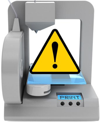 3D-printer-yellow-warning-triangle-Linke