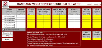 HSE have updated their Hand/Arm Vibration Exposure Calculator (Sept 2019)
