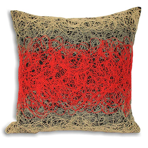 "Ying"" Cushion Covers, Red, 45 x 45 cm  by Riva Paoletti"
