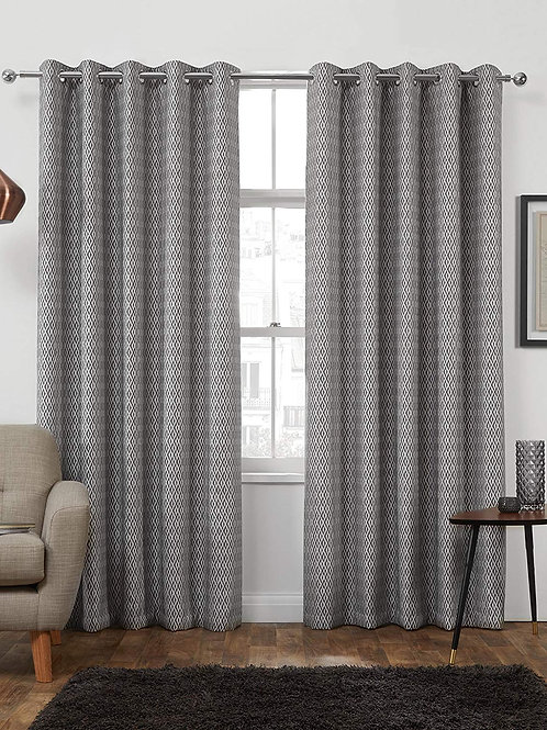 Yorkshire Linen Jacquered Curtains