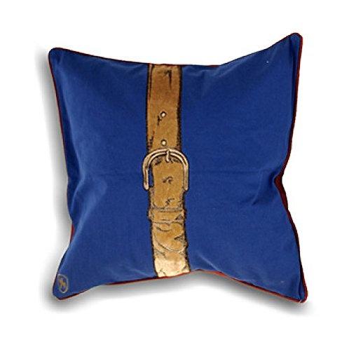 """Polo Strap"""" Cushion Covers, Blue, 45 x 45 cm"""