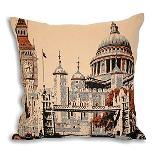 London City Square Cushion Cover Cream 45 x 45