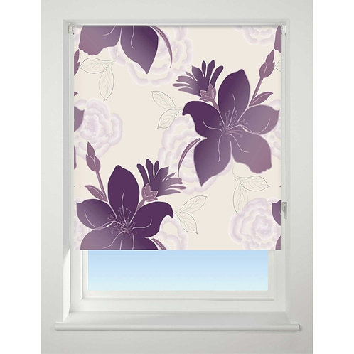 Lily Purple Roller Blind