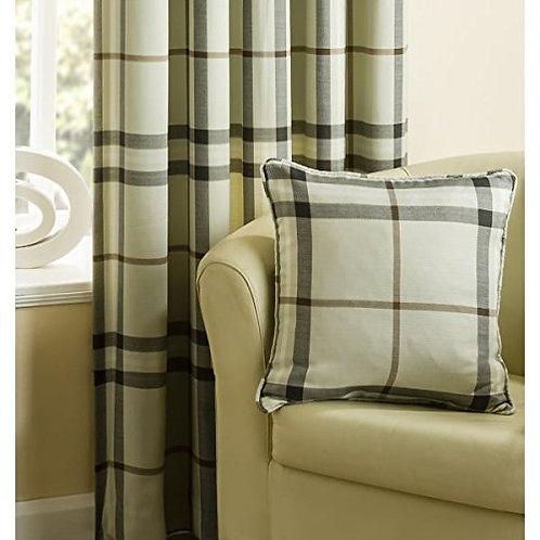 loch natural check cushion cover