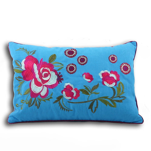 Floral Boudoir Cushion Cover
