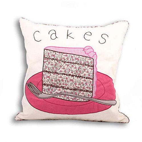 "Riva Paoletti ""Tea Party Cakes"" Cushion Covers, Cream, 45 x 45 cm"