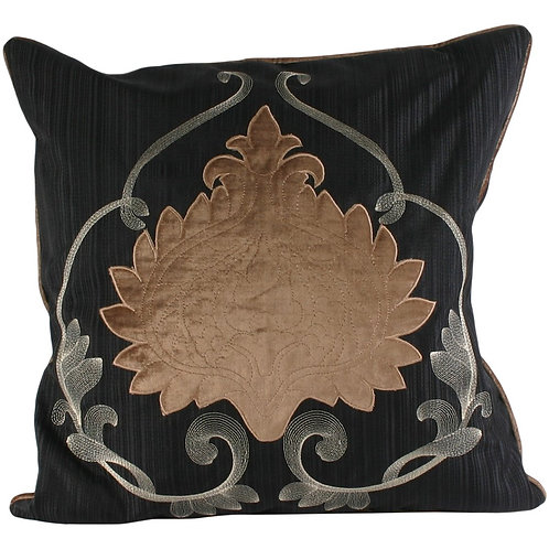 "Riva Paoletti ""Windermere"" Cushion Covers, Black/Taupe, 45 x 45 cm  by Riva Paol"