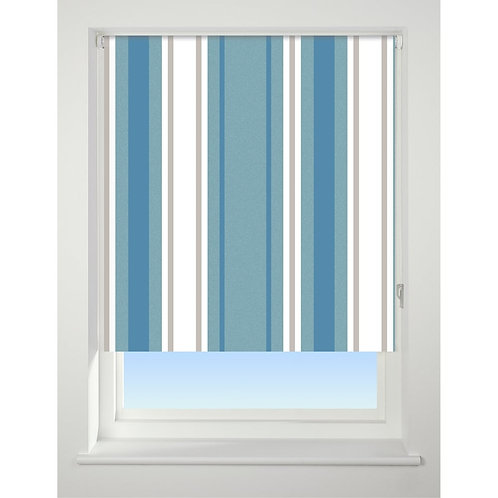 Stripe Blue Roller Blind
