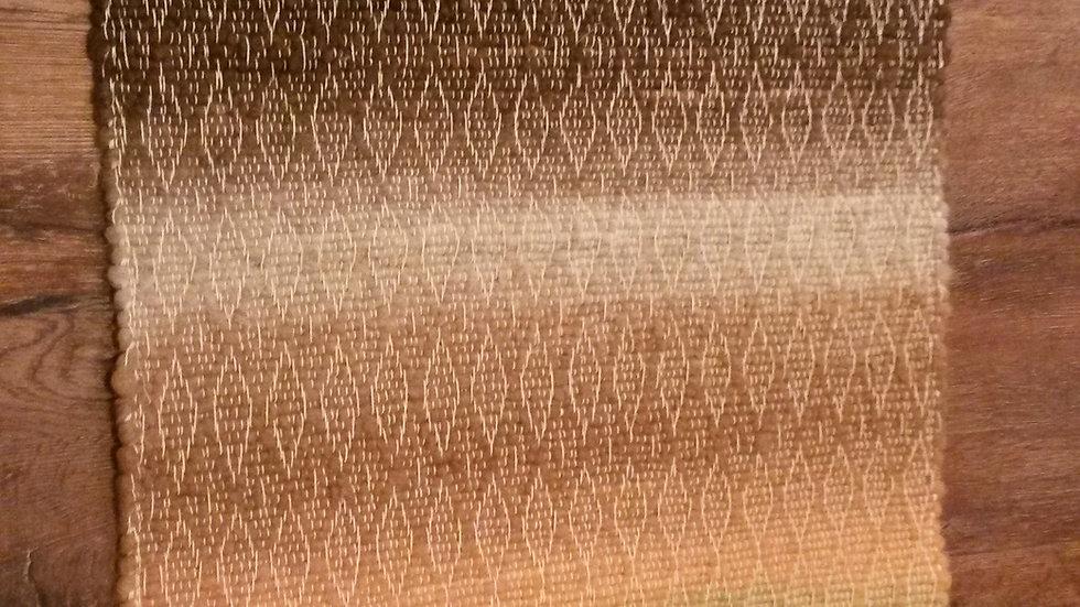 2' x 4' alpaca woven rug.