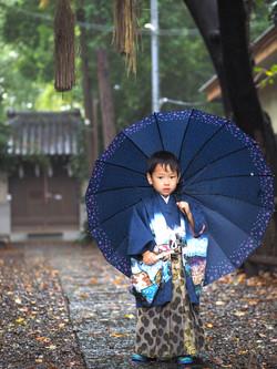 雨天, 七五三, 出張撮影のStudio Honey Days