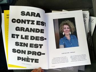 """""""Sara Conti est grande et le dessin est son prophète"""" de Paul Ardenne, dans """"Le Magaz"""