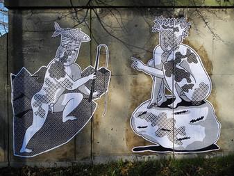 """IN RIVA AL FIUME"" - Charleroi(B) 2016 - Collages"