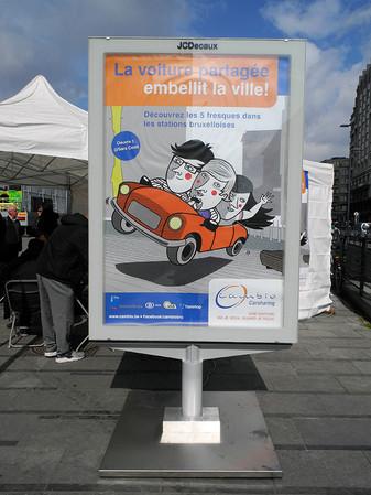 Dessin pour une affiche et un vinyle autocollant Cambio - Bruxelles(B) 2016