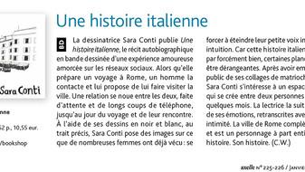 """""""Une histoire italienne"""" dans le hors série d'Axelle Magazine de janvier-février 2020"""