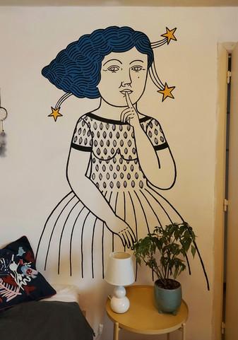 """Le mural """"Désir secret"""""""