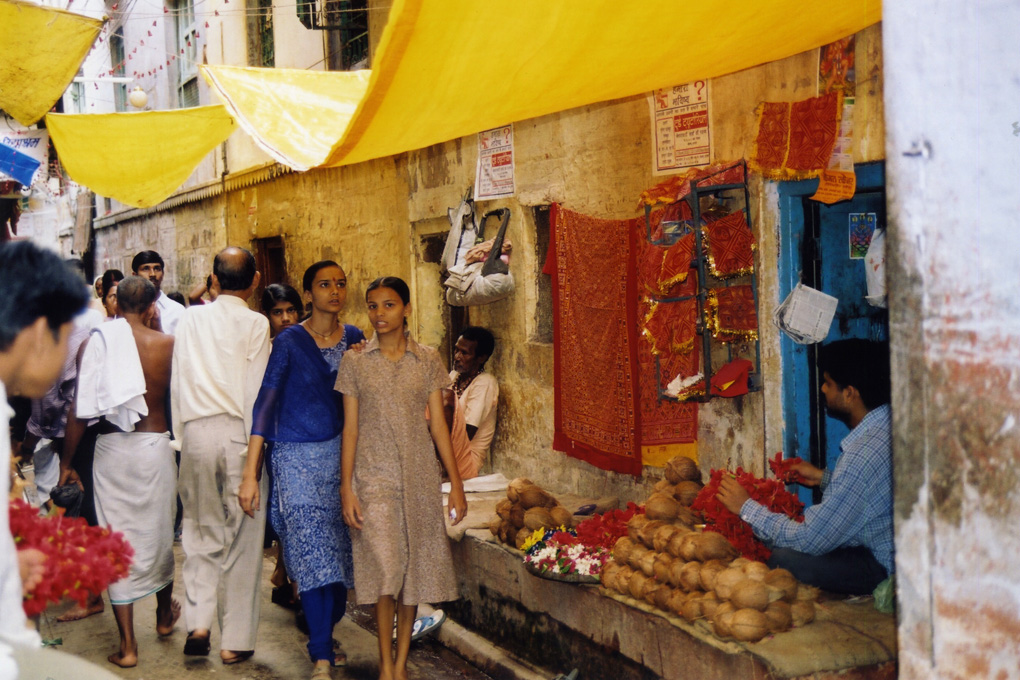 India-Varanasi-Girls in back street.jpg