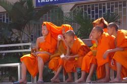Antoine Roulet-Thailand-monks in stadium.jpg