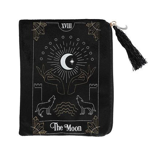 The Moon Card Tarot Zippered Bag