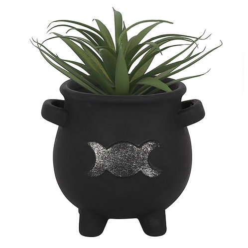 Triple Moon Cauldron Planter