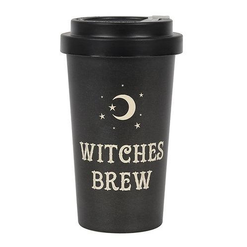 Black Witches Brew Eco Bamboo Travel Mug