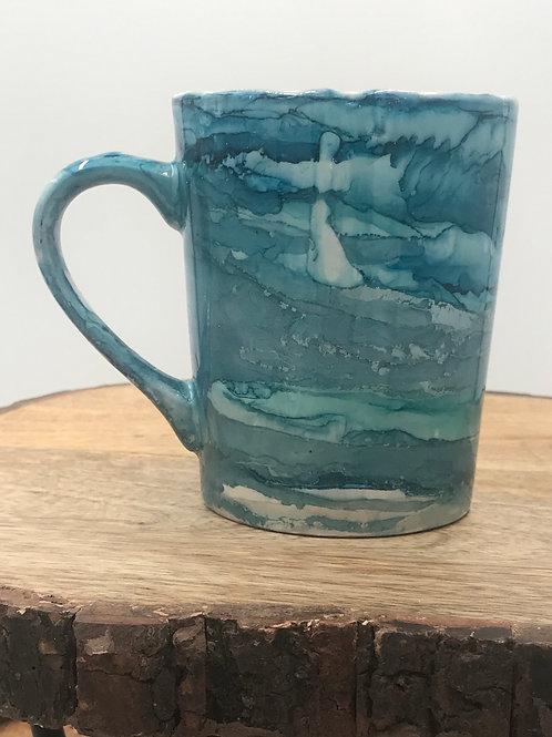 Teal blue mug
