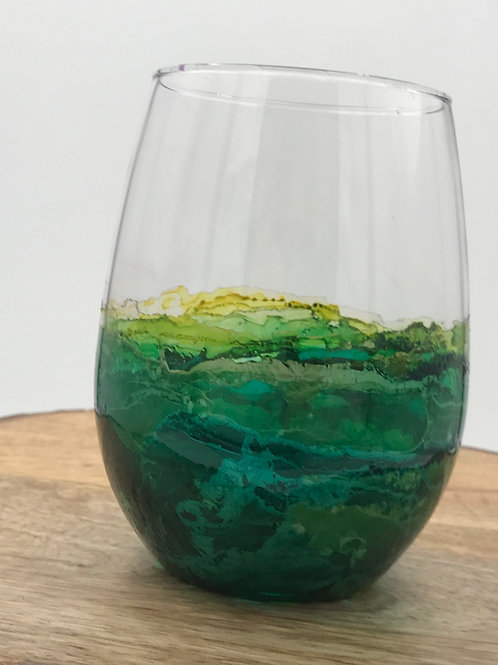 Lime green wine tumbler