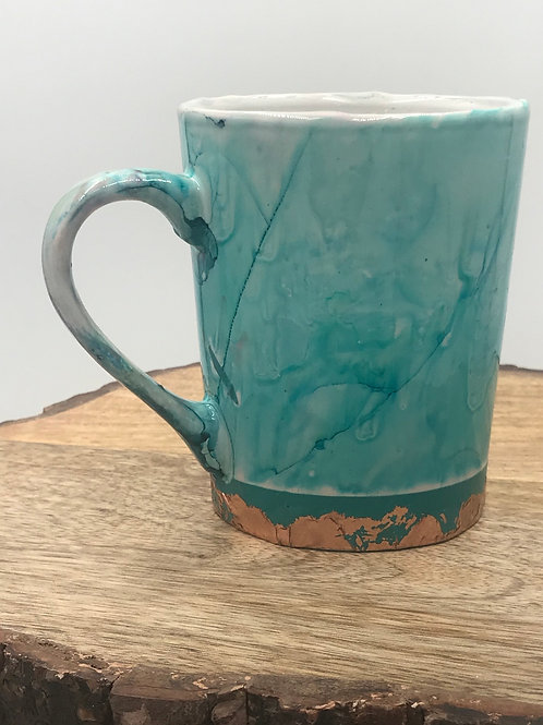 Copper n teal mug