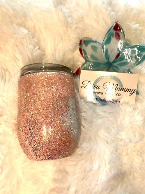 Peach and iridescent Tumbler