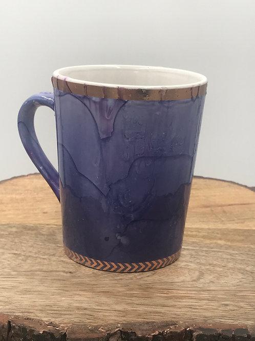 Rose gold violet mug