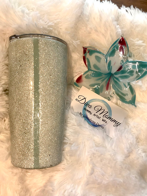Diamond and Tiffany Blue Tumbler