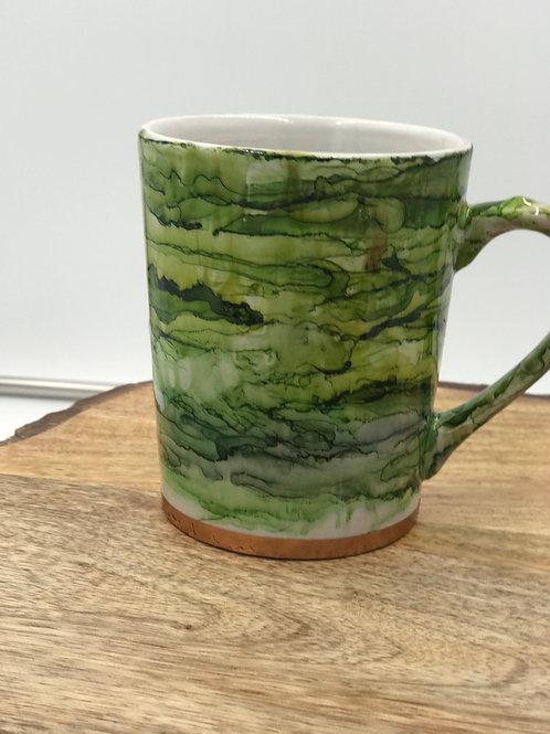 Rose gold green mug
