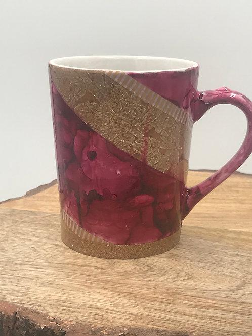 Royal red gold mug