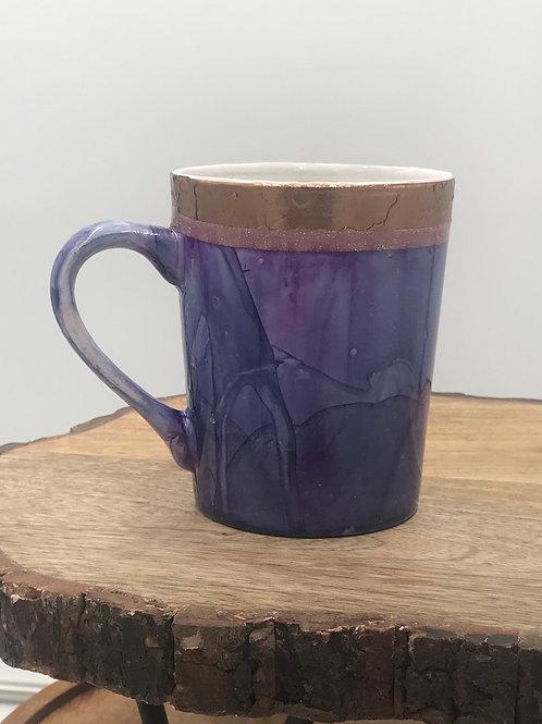 Pink n purple gold mug