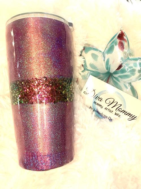 2 tone glitter tumbler