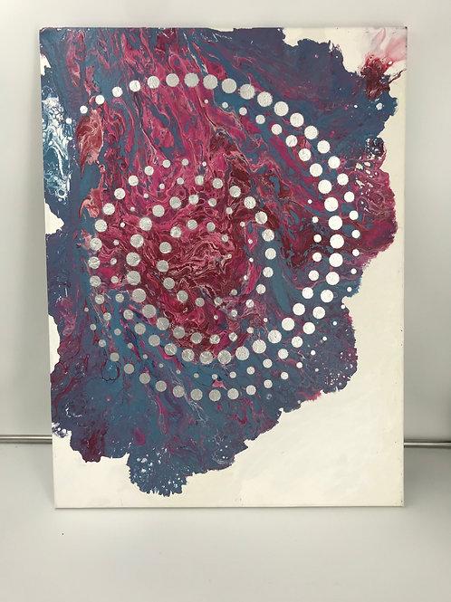 Raspberry Silver Swirl