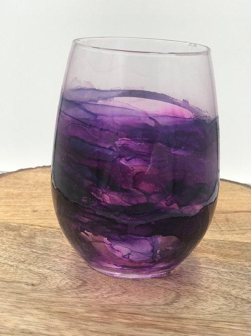 Violet wine tumbler